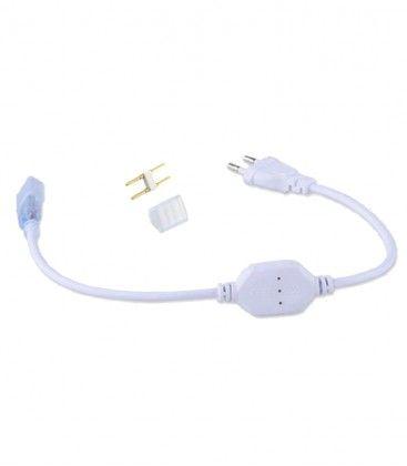 Kontakt till 230V LED strip (Type Y) - Inkl. ändstycke, 230V