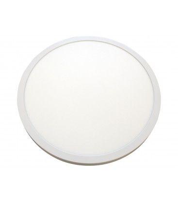 40W LED rund panel - Ø60, Höjd: 4cm, vit kant, inkl. ljuskälla