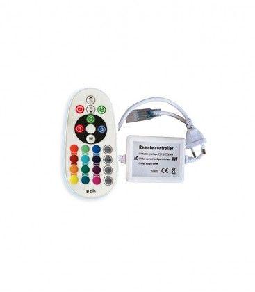 8x16 RGB controller till Neon Flex LED - Inkl. ändstycke, radiostyrd, IP67, 230V