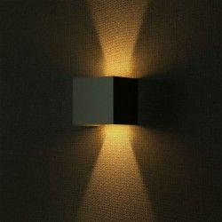 V-Tac 12W LED grå vägglampa - Kvadrat, justerbar spridning, IP65 utomhusbruk, 230V, inkl. ljuskälla