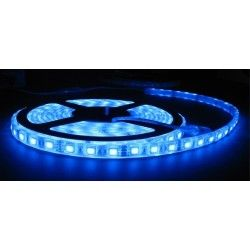 Blå stänksäker LED strip - 5m, 30 LED per. meter