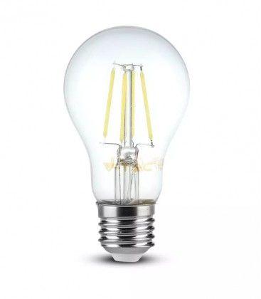 V-Tac 8W LED lampa - Filament, varmvitt, E27