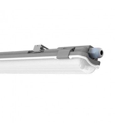 V-Tac 60 cm vattentät armatur med rör - Inkl. 1 stk. 10W LED rör, IP65, 230V