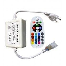230V RGB RGB kontroller med fjärrkontroll - 230V, memory funktion, Radiostyret
