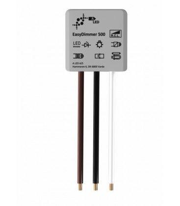 EasyDimmer500 - 250W LED dimmer, fjädertryck/push dim, korsomkoppling