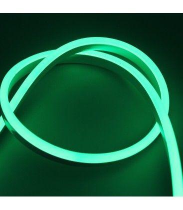 Grön 8x16 Neon Flex LED - 8W per. meter, IP67, 230V