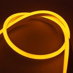 230V Neon Flex Gul 8x16 Neon Flex LED - 8W per. meter, IP67, 230V