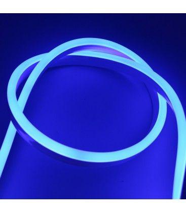 Blå 8x16 Neon Flex LED - 8W per. meter, IP67, 230V