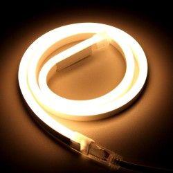 230V Neon Flex 8x16 Neon Flex LED - 8W per. meter, varmvitt, IP67, 230V