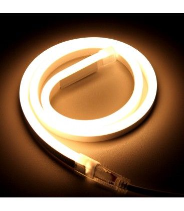 Varmvitt 8x16 Neon Flex LED - 8W per. meter, IP67, 230V