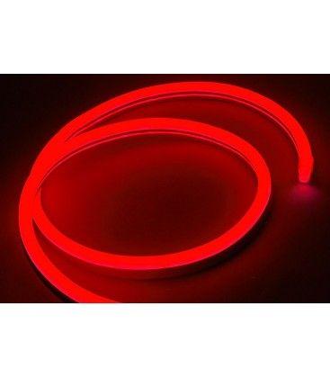 Röd 8x16 Neon Flex LED - 8W per. meter, IP67, 230V