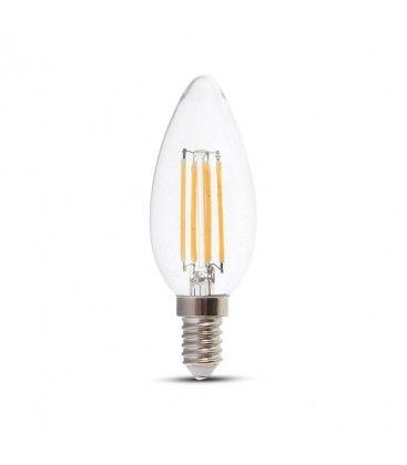 V-Tac 6W LED kronljus - Filament, E14