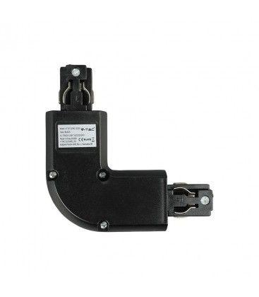 V-Tac L-skarv för skena - svart