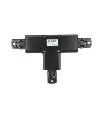 V-Tac T-koppling till skena - Svart