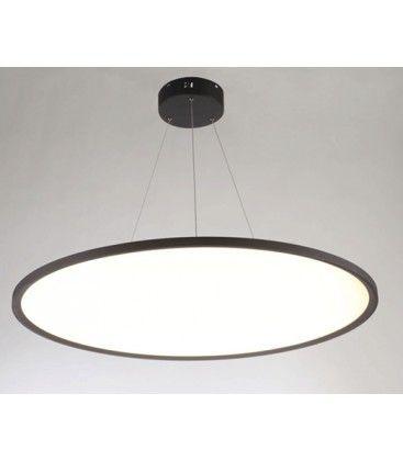 LEDlife 40W LED rund panel - 100 lm/W, Ø60, svart, inkl. wireupphäng