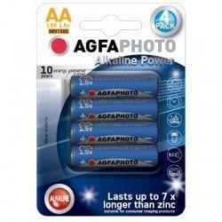 El-produkter AA 4-pak AgfaPhoto batteri - Alkaline, 1,5V
