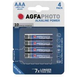 Batterier 4 stk AgfaPhoto Alkaline batteri - AAA, 1,5V