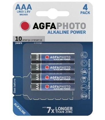 AAA 4-pak AgfaPhoto batteri - Alkaline, 1,5V