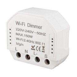 El-produkter WifiDimmer150 - 150W LED dimmer, fjädertryck/push dim, korsomkoppling, till inbyggning