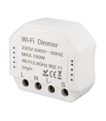 WifiDimmer150 - 150W LED dimmer, fjädertryck/push dim, korsomkoppling, till inbyggning