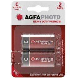 Batterier 2 stk AgfaPhoto Alkaline C/MN1400 batteri - 1,5V