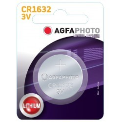 El-produkter 1 stk AgfaPhoto Lithium knappbatteri - CR1632, 3V