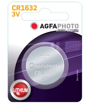 1 stk AgfaPhoto Lithium knappbatteri - CR1632, 3V