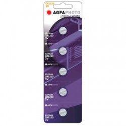 Batterier 5 stk AgfaPhoto Lithium knappbatteri - CR1220, 3V