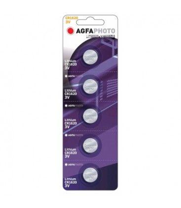 CR1620 5-pak AgfaPhoto knappbatteri - Lithium, 3V