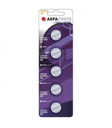 CR2016 5-pak AgfaPhoto knappbatteri - Lithium, 3V