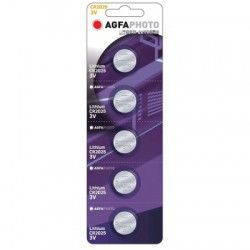 El-produkter CR2025 5-pak AgfaPhoto knappbatteri - Lithium, 3V