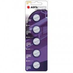 Batterier 5 stk AgfaPhoto Lithium knappbatteri - CR2032, 3V