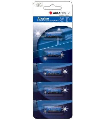 LR1 5-pak AgfaPhoto batteri - Alkaline, 1.5V