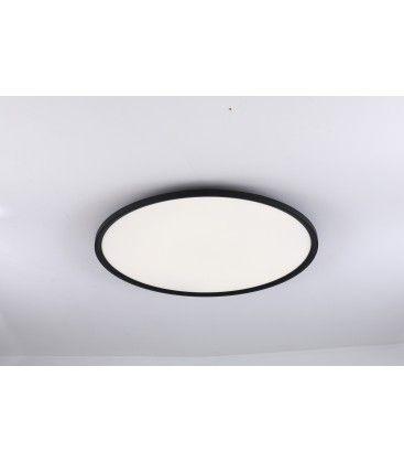 LEDlife 40W LED rund panel - 100 lm/W, Ø60, svart, inkl. monteringsfäste