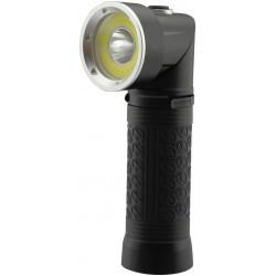 LED ficklampor LED ficklampa 90° roterbar - 5W, magnet i botten, 3xAAA, svart