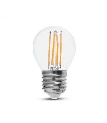 V-Tac 6W LED lampa - G45, Filament, E27