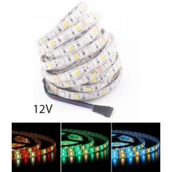 12V RGB+WW 12W/m RGB+WW LED strip - 5m, IP65, 60 LED per. meter, 12V