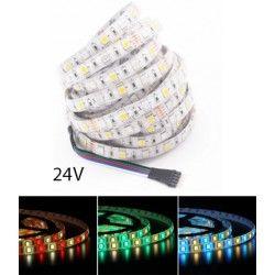 24V RGB+WW 12W/m RGB+WW LED strip - 5 meter, IP65, 60 LED per. meter, 24V