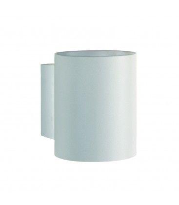 LED vit rund vägglampa - Med G9 sockel, IP20 inomhus, 230V, utan ljuskälla