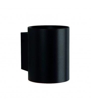 LED svart rund vägglampa - Med G9 sockel, IP20 inomhus, 230V, utan ljuskälla