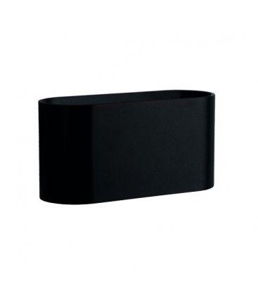 LED svart oval vägglampa - Med G9 sockel, IP20 inomhus, 230V, utan ljuskälla