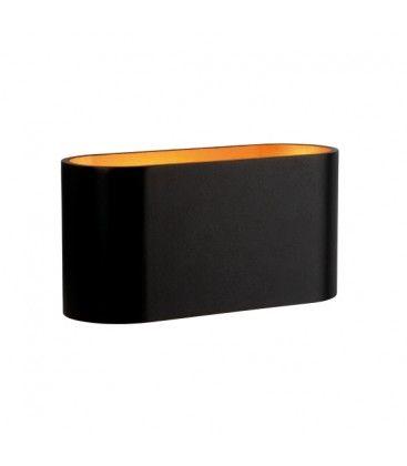 LED svart/koppar oval vägglampa - Med G9 sockel, IP20 inomhus, 230V, utan ljuskälla
