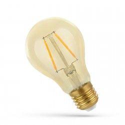 2W LED lampa - Filament, rav färgad glas, extra varm, E27