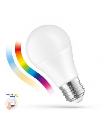 9W Smart Home LED lampa - Verk med Goochle Home, Alexa og smartaphones, E27, A60