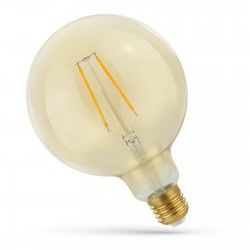 LED Lampor 2W LED globlampa - Filament, rav färgad glas, extra varm, E27