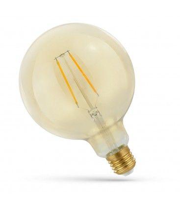 2W LED globlampa - Filament, rav färgad glas, extra varm, E27