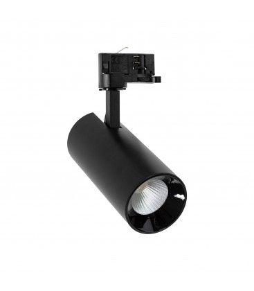 25W svart skenaspotlight - To spridningsgrader, RA80, 3-fas