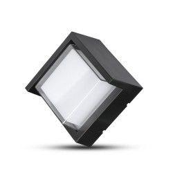 Utomhus vägglampa V-Tac 7W LED svart vägglampa - Fyrkantigt, IP65 utomhusbruk, 230V, inkl. ljuskälla