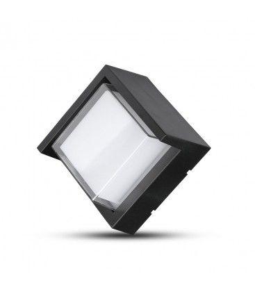 V-Tac 7W LED svart vägglampa - Fyrkantigt, IP65 utomhusbruk, 230V, inkl. ljuskälla
