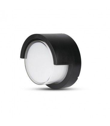 V-Tac 12W LED svart vägglampa - Runda, IP65 utomhusbruk, 230V, inkl. ljuskälla